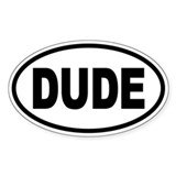DUDE Oval Oval Decal