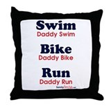Triathlon Daddy Throw Pillow