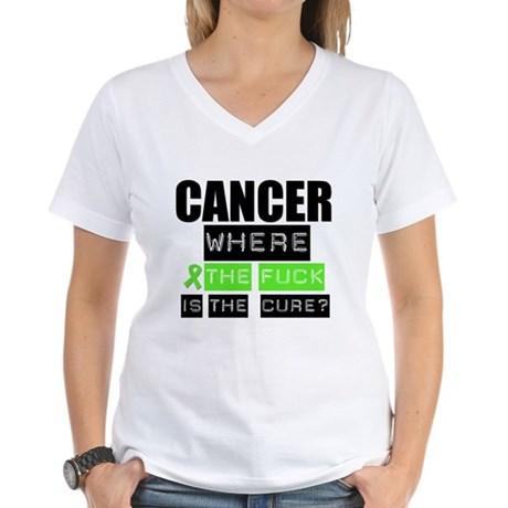 Cancer Cure Lymphoma Women's V-Neck T-Shirt