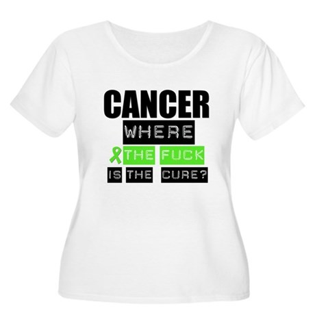 Cancer Cure Lymphoma Women's Plus Size Scoop Neck