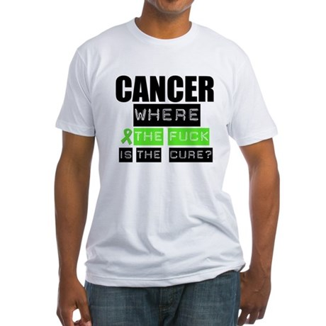 Cancer Cure Lymphoma Fitted T-Shirt