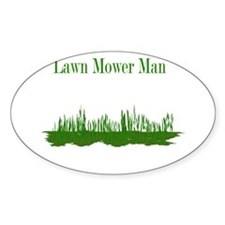 Lawn Mower Man Oval Decal