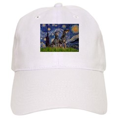 Starry Night / 2 Dobies Cap