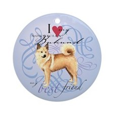 Norwegian Buhund Ornament (Round)