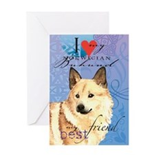 Norwegian Buhund Greeting Card