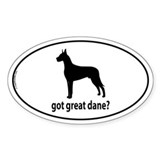 Got Great Dane? Oval Décalcomanies