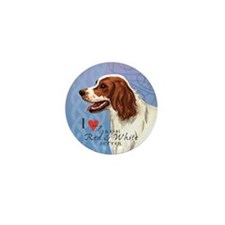 Irish Red & White Setter Mini Button
