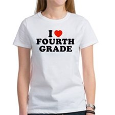 I Heart/Love Fourth Grade Tee