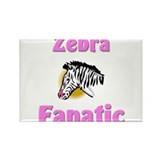 Zebra Fanatic Rectangle Magnet (10 pack)