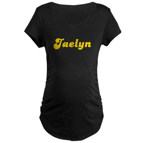 Retro Jaelyn (Gold) Maternity Dark T-Shirt