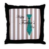 Happy Father's Day Tie 1 Throw Pillow