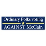 Ordinary Folks Against McCain bumper sticker