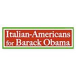 Italian-Americans for Barack Obama sticker
