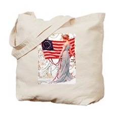 Gibson Girl and Flag Tote Bag