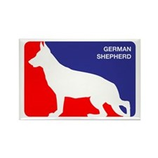 German Shepherd Rectangle Magnet (100 pack)