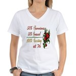 Exciting 76th Women's V-Neck T-Shirt