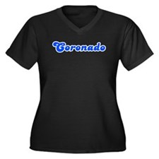 Retro Coronado (Blue) Women's Plus Size V-Neck Dar