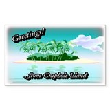 Greetings Rectangle Decal