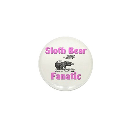 Sloth Bear Fanatic Mini Button (10 pack)