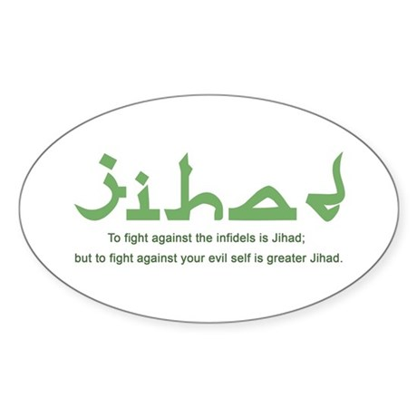 Jihad Oval Sticker