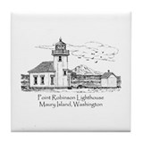 Pt. Robinson Lighthouse Tile Coaster