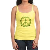 Green Recycle Peace Jr.Spaghetti Strap