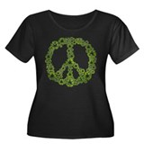 Green Recycle Peace Women's Plus Size Scoop Neck D