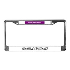 Sunshine Challenged License Plate Frame