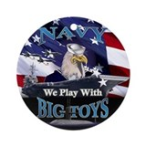 US NAVY BIG TOYS Ornament (Round)