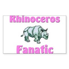 Rhinoceros Fanatic Rectangle Decal