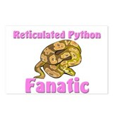 Reticulated Python Fanatic Postcards (Package of 8