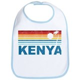 Retro Palm Tree Kenya Bib