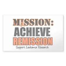 Mission Remission Leukemia Rectangle Sticker 10 p