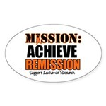 Mission Remission Leukemia Oval Sticker (10 pk)