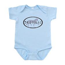 Trot Oval Brush Text (blue) Infant Bodysuit