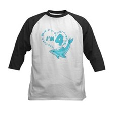 Dolphin Heart 4th Birthday Tee