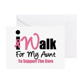 I Walk For My Aunt Greeting Cards (Pk of 10)