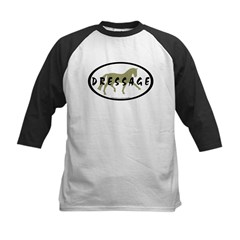 Trot Oval Hand Text (sage) Kids Baseball Jersey