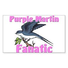 Purple Martin Fanatic Rectangle Decal