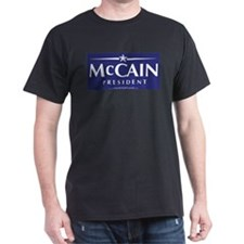 """John McCain 2008"" Black T-Shirt"