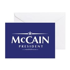 """John McCain 2008"" Greeting Cards (6)"