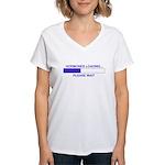 HORMONES LOADING... Women's V-Neck T-Shirt