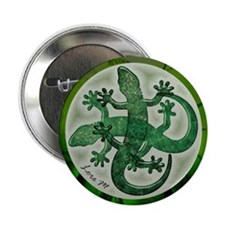 """Green salamanders"" 2.25"" Button (1"