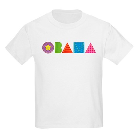 Quilted Obama Kids Light T-Shirt