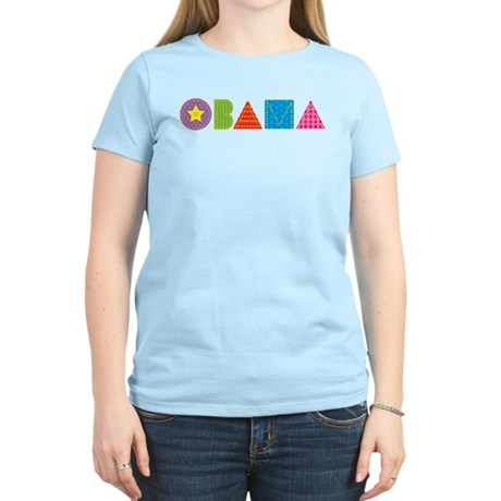 Quilted Obama Women's Light T-Shirt