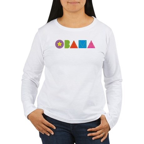 Quilted Obama Women's Long Sleeve T-Shirt
