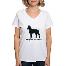 BELGIAN MALINOIS Womens V-Neck T-Shirt