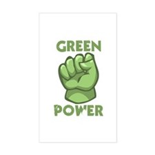 Green Power Rectangle Decal