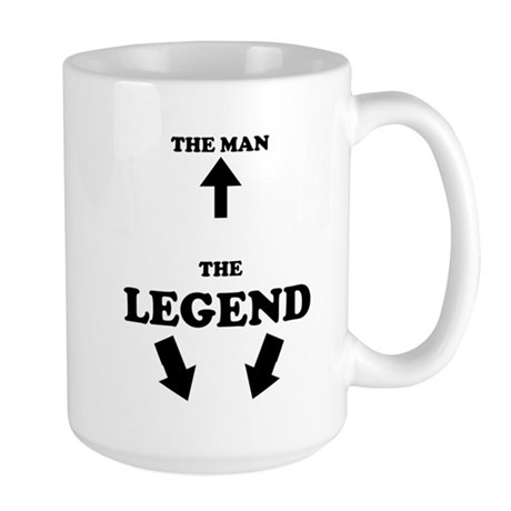 The Man, The Legend Large Mug