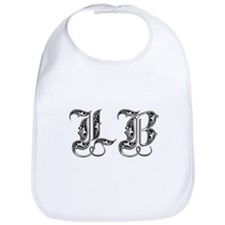 Long Beach LB Fancy Font Baby Bib